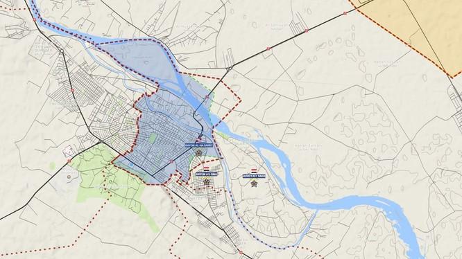 Những khu vực còn lại của IS trong nội thị thành phố Deir Ezzor, Deir Ezzor sẽ hoàn toàn giải phóng trong vài ngày tới - ảnh South Front