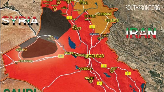 Bản đồ tình hình cuộc chiến chống IS ở Iraq tính đến ngày 27.10.2017