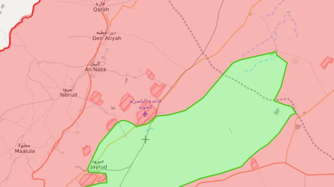 Khu vực Qalamoun, nơi các tay súng FSA có thể sẽ đầu hàng, giao nộp vũ khí cho quân đội Syria