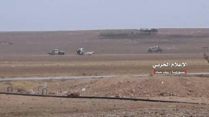 Khu vực chiến trường phía đông bắc tỉnh Hama - ảnh minh họa Al-Masdar News
