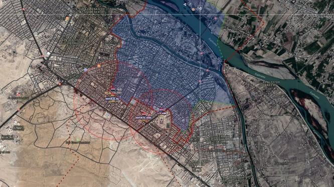 Những khu phố quân đội Syria vừa giải phóng - ảnh Muraselon