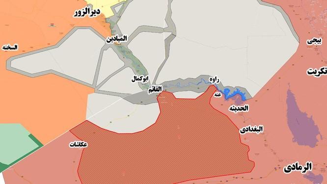 Vùng lãnh thổ Iraq vừa được giải phóng khỏi sự chiếm đóng của IS - ảnh Masdar News