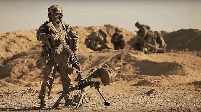 Lực lượng đặc nhiệm Nga chiến đấu trên chiến trường Syria, ảnh minh họa Masdar News