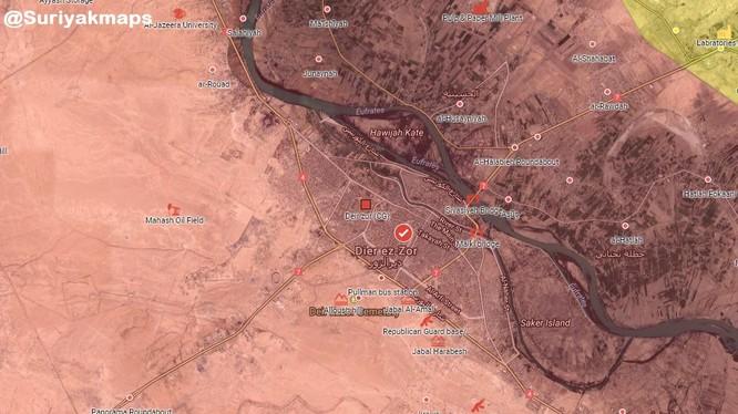Toàn bộ thành phố Deir Ezzor hoàn toàn giải phóng - bản đồ South Front
