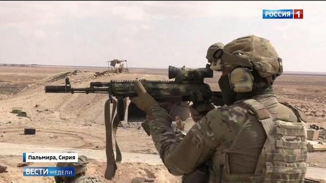 Đặc nhiệm Nga trên chiến trường Syria - ảnh minh họa video Kênh 1 Nga