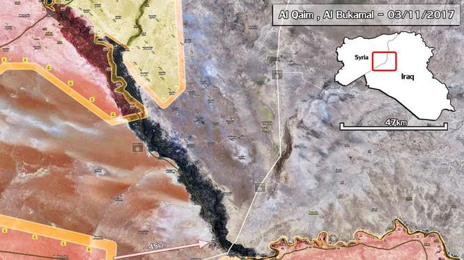 Bản đồ chiến sự khu vực Deir Ezzor, quân đội Syria tiến công về hướng biên giới Syria - Iraq, ảnh South Front