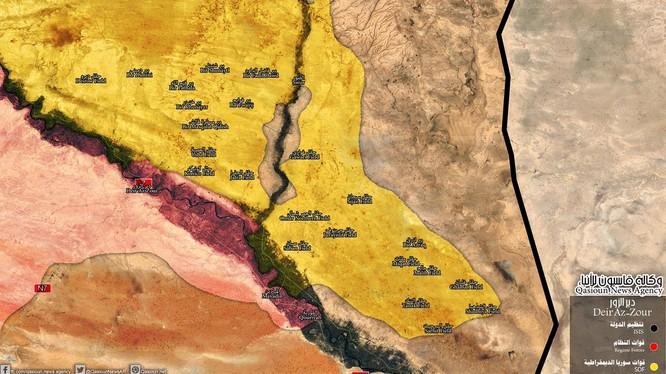 Những khu vực người Kurd đã chiếm được trên chiến trường Deir Ezzor - ảnh South Front