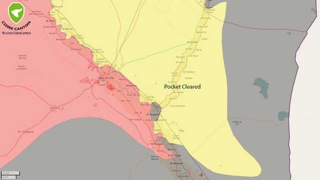 Bản đồ thành phố Deir Ezzor hoàn toàn giải phóng - ảnh South Front