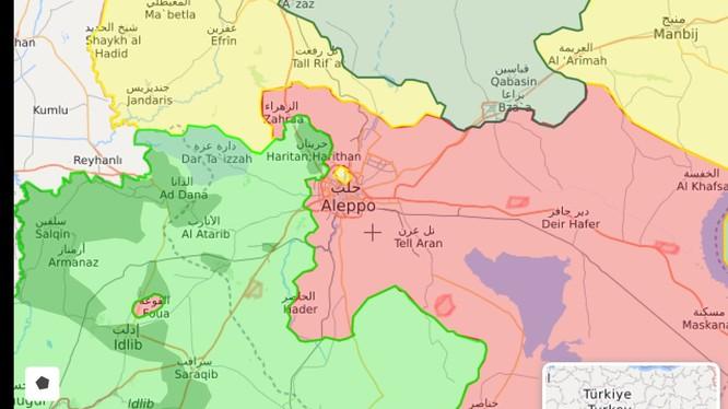 Bản đồ tình hình chiến sự Aleppo - ảnh South Front