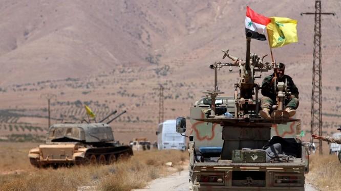 Lực lượng Hezbollah tiến công trên chiến trường Syria - ảnh minh họa Masdar News