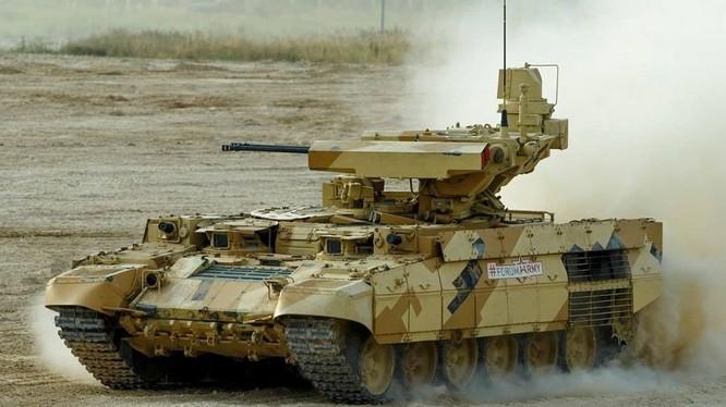 Xe yểm trợ hỏa lực tăng thiết giáp và chiến tranh đô thị - ảnh minh họa báo RG