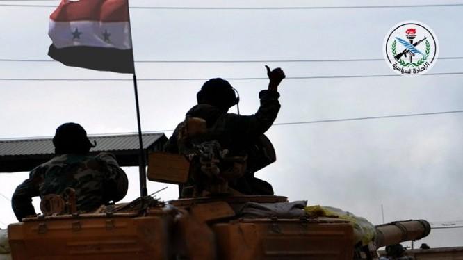 Binh sĩ quân đội Syria trên chiến trường Hama - ảnh minh họa South Front