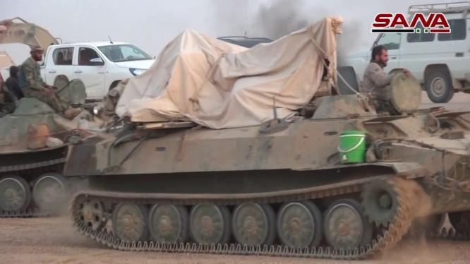 Quân đội Syria trên chiến trường Al-Bukamal - ảnh video SANA