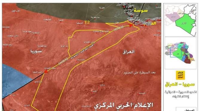 Khu vực biên giới vừa giải phóng khỏi sự chiếm đóng của IS - ảnh truyền thông Hezbollah