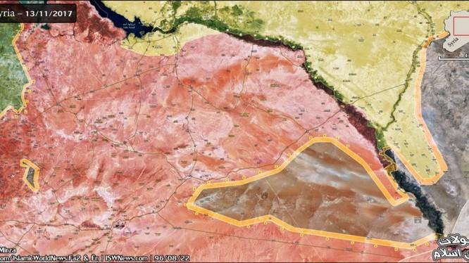 Bản đồ tình hình chiến sự thành phố Deir Ezzor - ảnh South Front