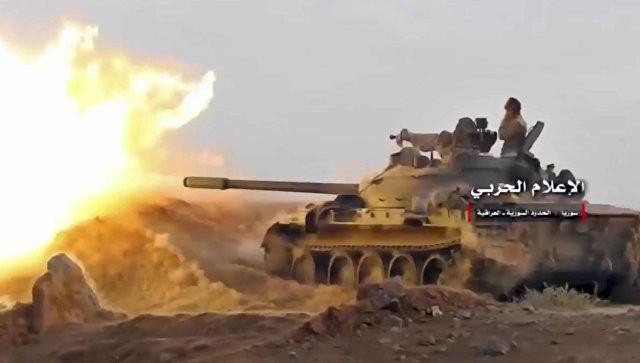 Quân đội Syria tấn công trên vùng ngoại ô thành phố Al-Bukamal - ảnh minh họa Masdar News