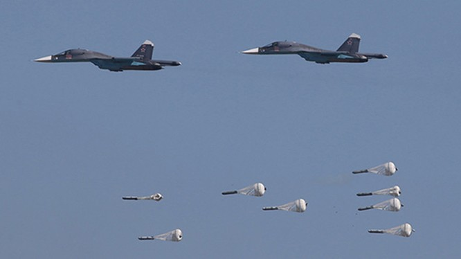 Không quân Nga không kích - ảnh minh họa Masdar News