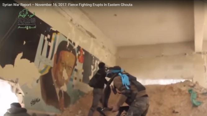 Các tay súng thánh chiến tấn công ở Đông Ghouta, ảnh video minh họa