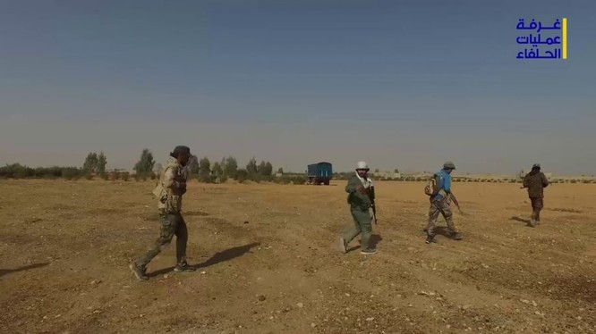 Các lực lượng vũ trang Syria bắt đầu cuộc tấn công vào thành phố Albukamal - ảnh video truyền thông Hezbollah