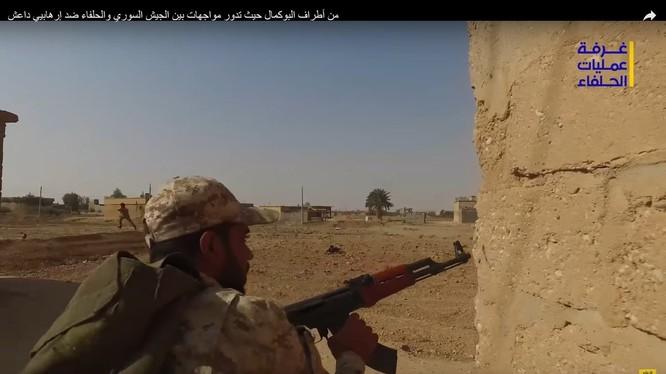 Binh sĩ quân đội Syria, chiến đấu trên chiến trường thành phố Albukamal - ảnh video Hezbollah