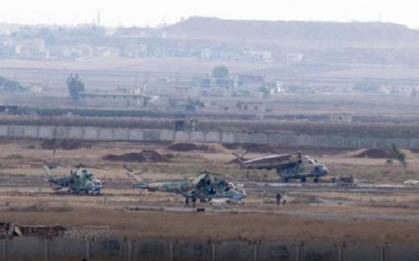 Sân bay quân sự Deir Ezzor, khu vực được cho là bị tấn công bằng xe VBIED của IS - ảnh Muraselon