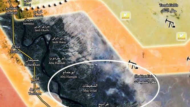 Bản đồ tình hình chiến sự Deir Ezzor, SDF giành quyền kiểm soát thị trấn Shu'aytat - ảnh South Front