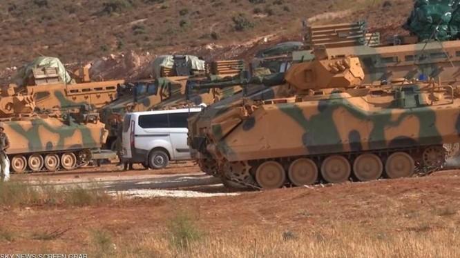 """Một trạm kiểm soát khu vực """"an toàn"""" của quân đội Thổ Nhĩ Kỳ - ảnh minh họa Muraselon"""