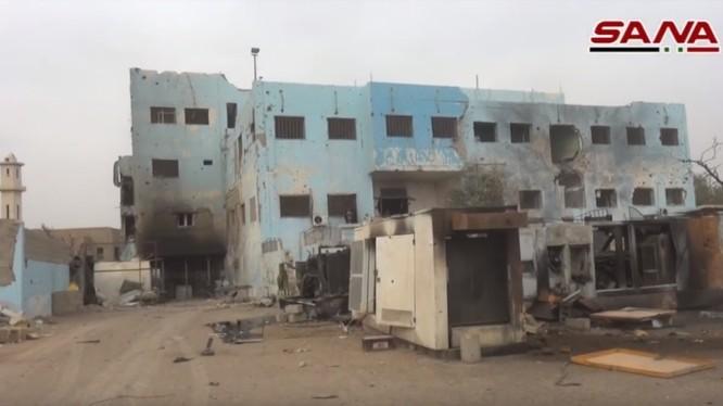 Thành phố Al-Bukamal sau khi giải phóng - ảnh video minh họa SANA