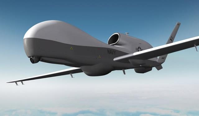 Máy bay trinh sát tầm cao không người lái Hải quân MQ-4 Triton - ảnh minh họa của trang Northrop Grumman