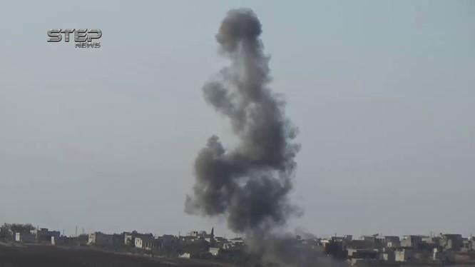 Không quân Nga không kích Hama, ảnh minh họa vieo