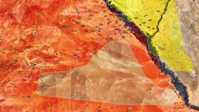 Chiến tuyến chiến trường Deir Ezzor tính đến ngày 29.11.2017 theo South Front - ảnh Muraselon