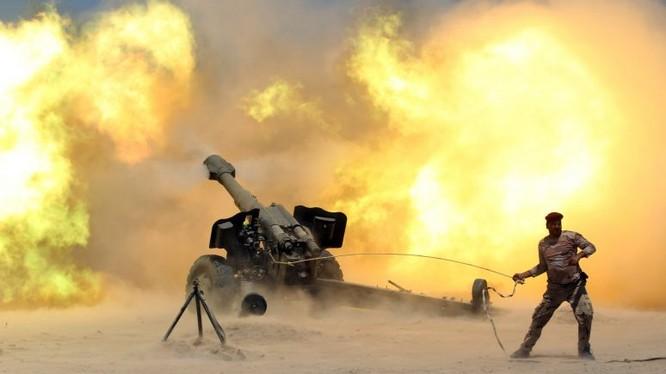 Lực lượng vũ trang Iraq pháo kích vào IS trên vùng biên giới Syria - ảnh minh họa Masdar News