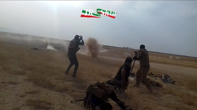 Binh sĩ Iraq chiến đấu trên chiến trường biên giới gần Syria - ảnh video truyền thông người Shia
