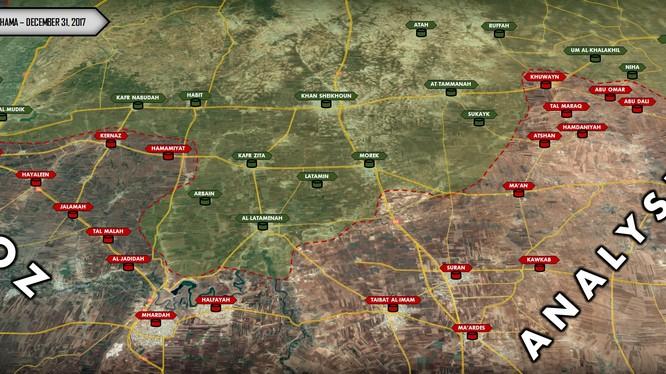 Các thị trấn và làng mạc quân đội Syria giải phóng trong 4 ngày qua