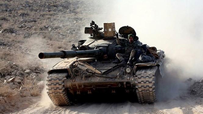 Bộ khí tài chống tên lửa chống tăng thế hệ II TOW của Mỹ Sarab-1 - ảnh truyền thông quân đội Syria