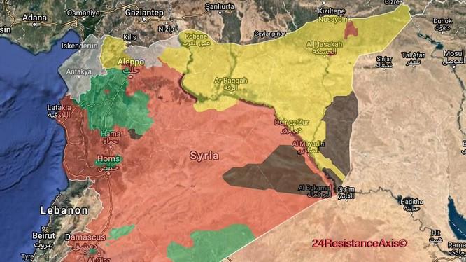 Bản đồ tình hình chiến trường chống IS, quân đội Syria kiểm soát 52% lãnh thổ - ảnh South Front