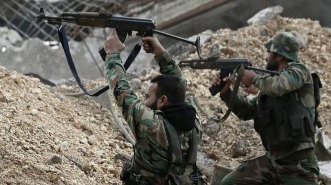 Binh sĩ lực lượng Vệ binh Cộng hòa, chiến đấu trên chiến trường Đông Ghouta - ảnh Masdar News