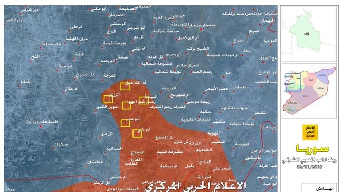 Những khu dân cư quân đội Syria giành được trong cuộc tấn công 24 giờ qua - ảnh truyền thông Hezbollah