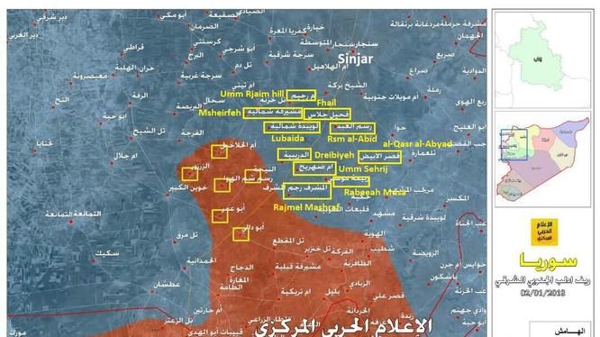 Những khu dân cư quân đội Syria tiến chiếm trong ngày 04.01.2017, ảnh truyền thông Hezbollah