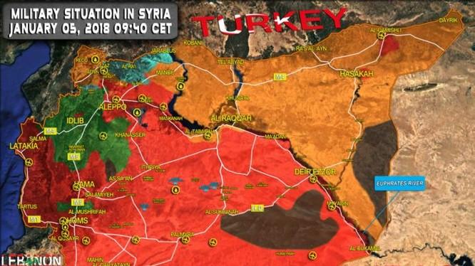 Tình hình chiến trường Syria ngày 05.01.2018 theo South Front