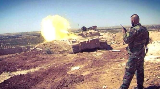 Xe tăng lực lượng Tiger tấn công trên chiến trường tỉnh Idlib - ảnh minh họa Muraselon