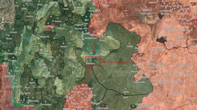 Các hướng tấn công của quân đội Syria nhằm vào căn cứ sân bay Abu Al-Duhur - ảnh South Front