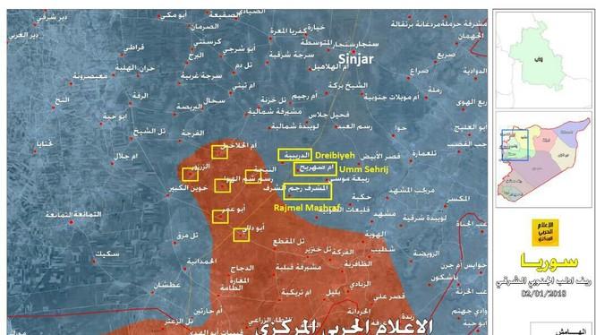 Những ngôi làng Tiger vừa giải phóng trên vùng nông thôn tỉnh Idlib - ảnh truyền thông Hezbollah