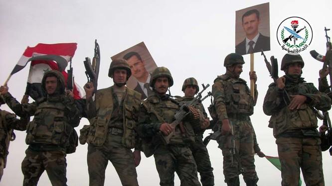 Binh sĩ lực lượng Lá chắn Qalamoun trên chiến trường Hama - ảnh minh họa Masdar News