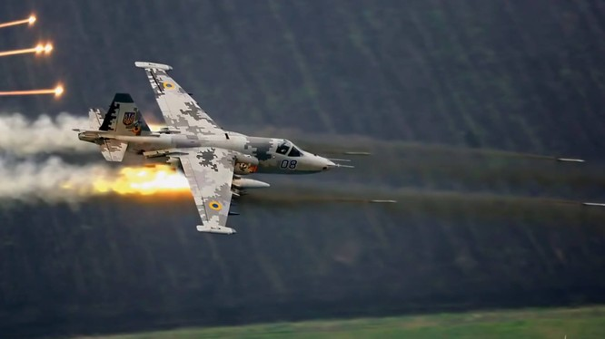 Không quân Nga không kích trên chiến trường Hama - ảnh minh họa Muraselon