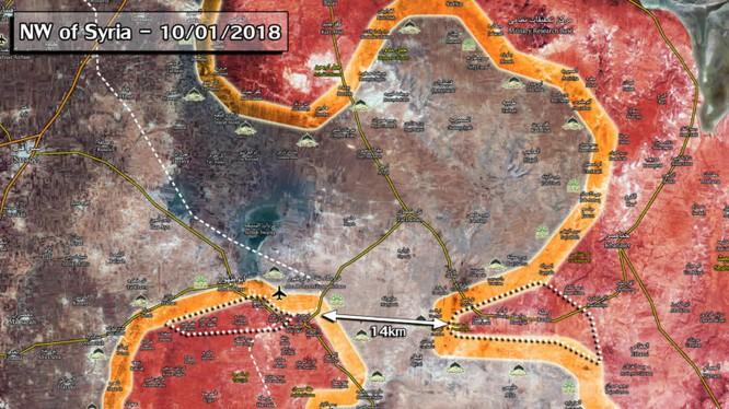 Tình hình chiến trường Idlib tình đến ngày 10.01.2018, ảnh South Front