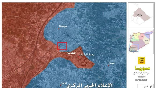 Chiến trường khu vực quận Harasta, Đông Ghouta, Damascus - ảnh truyền thông Hezbollah