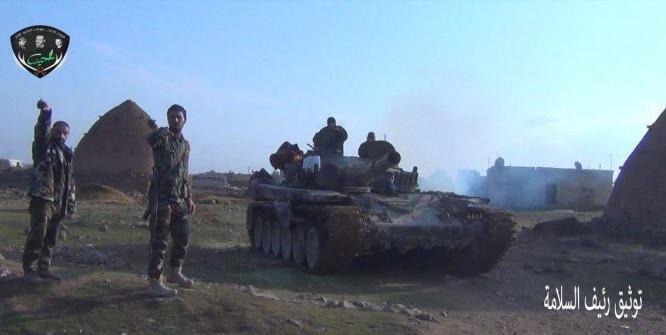 Xe tăng lực lượng Tiger trên chiến trường Idlib - ảnh minh họa Masdar News