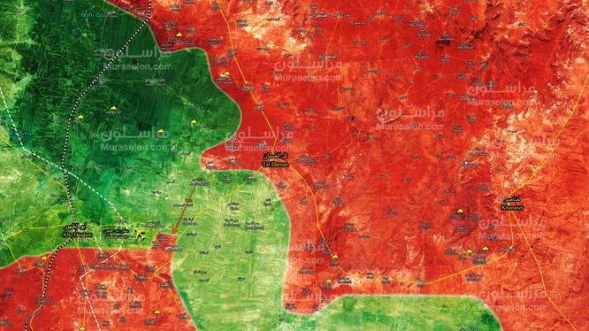 Bản đồ tình hình chiến sự Aleppo, Vệ binh Cộng hòa giải phóng thêm một thị trấn mới - ảnh Muraselon
