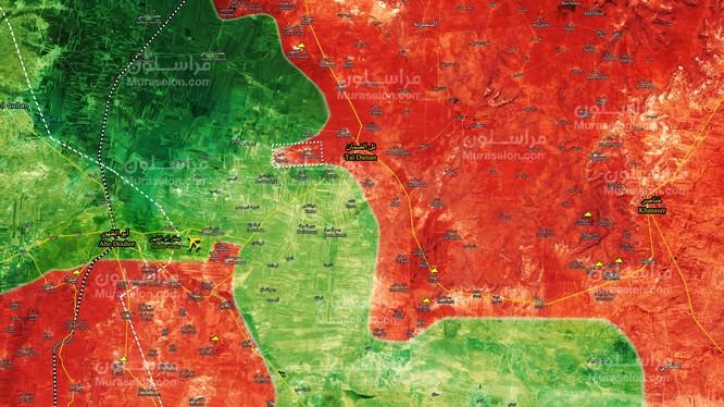 Tình hình chiến sự Syria, khu vực tây nam Aleppo tính đến ngày 16.01.2018 theo South Front